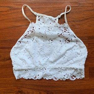 Aerie White lace bralette sz medium
